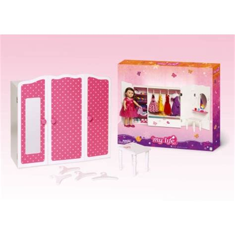 doll armoire doll dresser doll my life as 18 quot doll furniture armoire walmart com