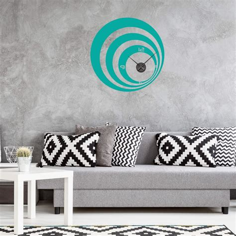 Retro Wall Stickers retro circles wall sticker clock wall art com