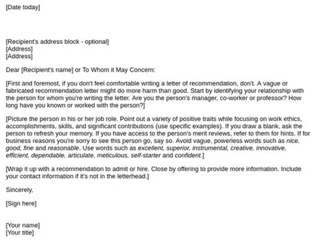Letter Of Recommendation Quora how to write a letter of recommendation for a graduate