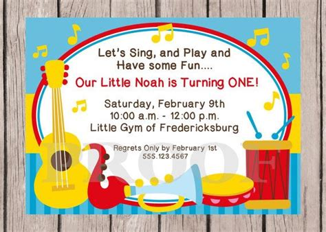 printable birthday invitations music theme music themed birthday party invitations dolanpedia