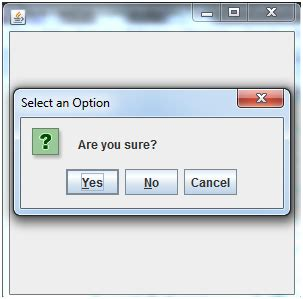 java swing box java confirm dialog box in swing with two buttons