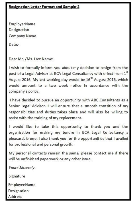 Graceful Resignation Letter by Resignation Format Format Of Resignation Letter Resignation Letter Format Sle