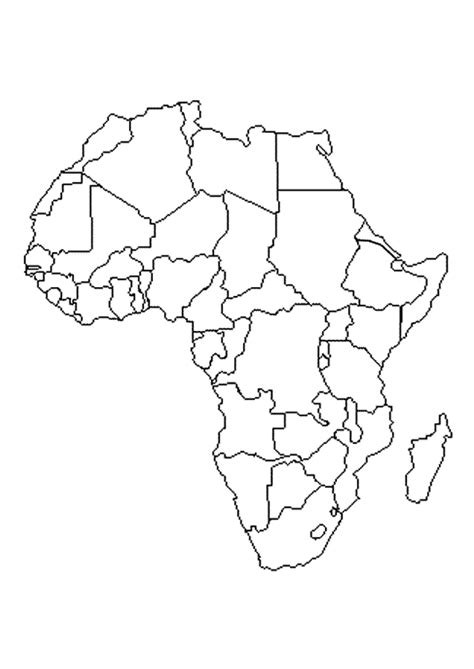 Coloriage Carte Afrique