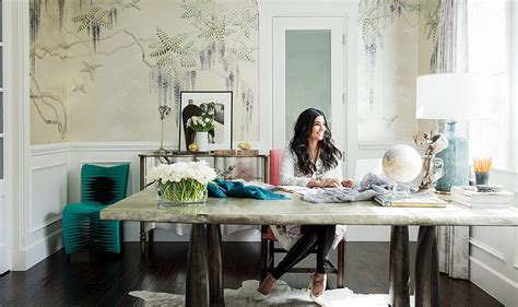 Design Bloggers inside rachel roy s impeccably elegant home office
