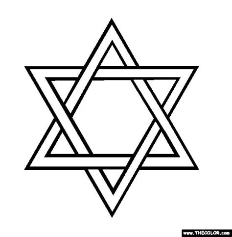 coloring page star of david david star jewish coloring clipart best