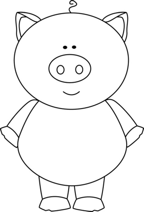 pig clipart black and white black and white pig clip black and white pig image