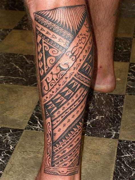 hawaiian tribal leg tattoos band images designs