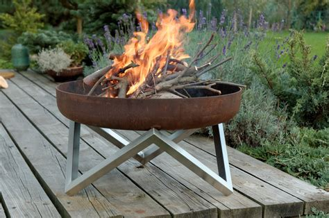 feuerschale outdoor steel pit yanartas contemporary design by arpestudio