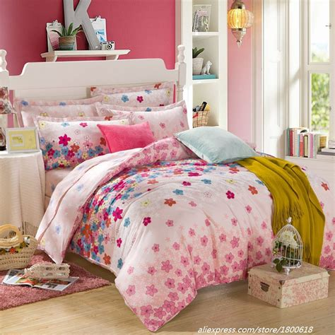 Bed Cover Wedding Import 7 2015 new small beautiful flowers duvet cover 100 cotton bedding sets wedding bed sheet comfort