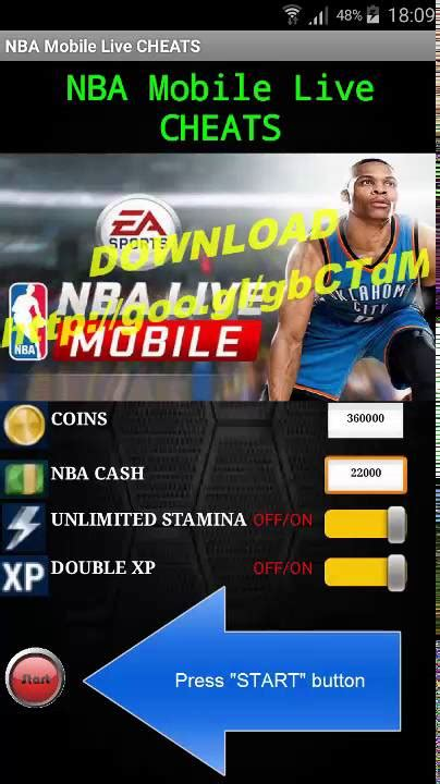 mobile nba nba mobile live cheats for android devices