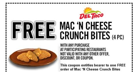 free printable grocery coupons for mac computers del taco coupon free 4 pc mac n cheese bites with any