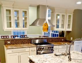 Kitchen Cabinets With Glass Doors On Both Sides A Kitchen Peninsula Better Than An Island