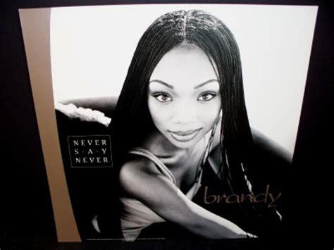 brandy never say never album brandy never say never promo album poster flat rare ebay