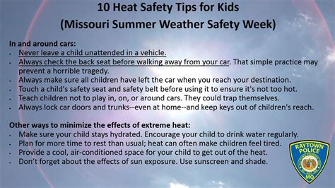 7 Summer Safety Tips by Pin Safety For Tips Missouri Division Of On