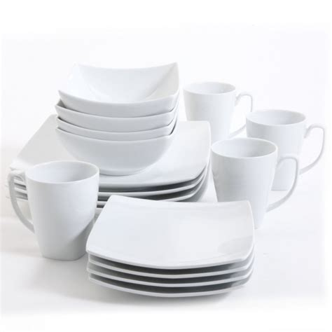 Restomart Plates 4 Pc Set monarch white square dinnerware set dinnerware sets