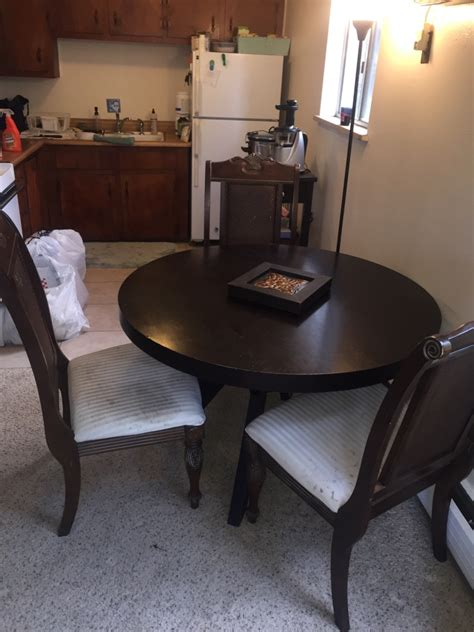 letgo cherry wood dining table and chairs in denver co