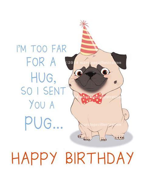 pug birthday wishes pug birthday card approximately 5 x 7 blank card with kraft envelope animal