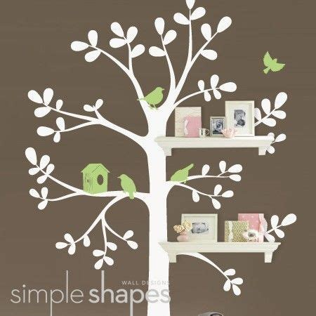 tree wall sticker with shelves wall decals nursery the original shelving tree wall