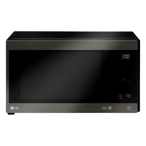 Microwave Lg Neochef lg electronics neochef 1 5 cu ft countertop microwave in black stainless steel lmc1575bd the