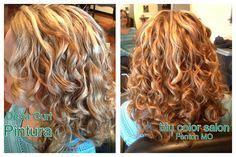 deva curl highlights hair on pinterest salons foil highlights and elle