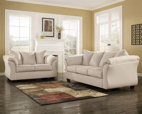 darcy sofa and loveseat signature design by ashley darcy stone 7500035