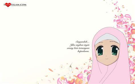 wallpaper pink kartun kartun muslimah pilihan warna pink download foto gambar