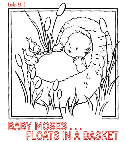 free bible coloring pages moses moses free colouring pages