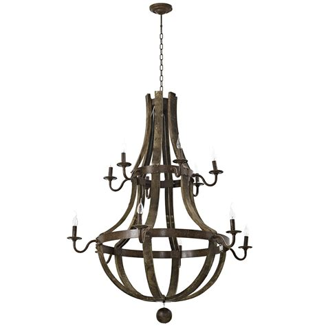 Steel Chandelier Trebuchet Rustic Inspired12 Bulb Chandelier In