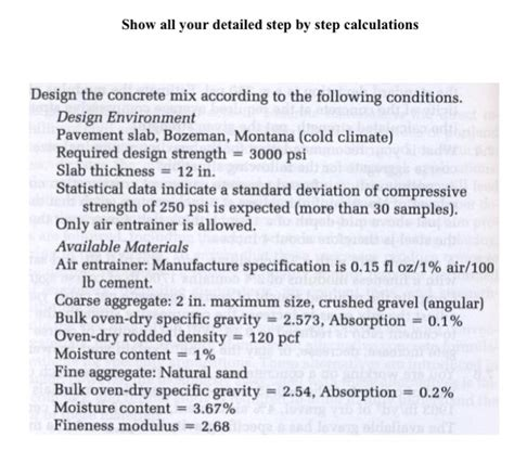 design for the environment includes all the following except design the concrete mix according to the following