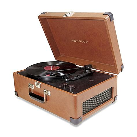 bed bath and beyond turntable crosley traveler turntable cr49 in tan bed bath beyond