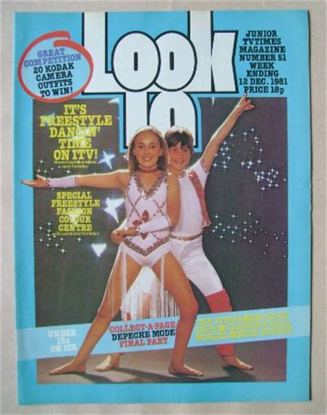 look in magazine freestyle dancing cover (12 december 1981)