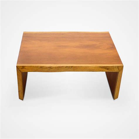 Small Double Live Edge Solid Vinhatico Wood Coffee Table Small Wood Coffee Table