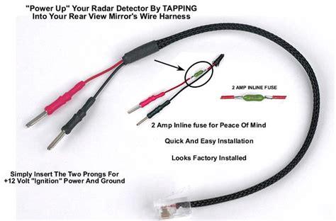radar detector power cord mirrortap radar detector power cord radarbusters