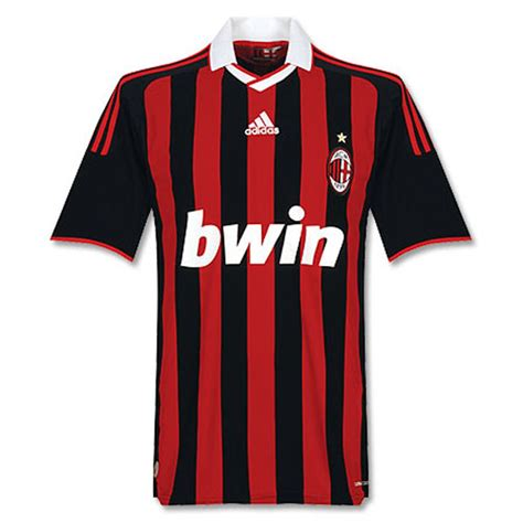 Ac Milan Signature 10 adidas ac milan soccer jersey home 2009 10 soccerevolution