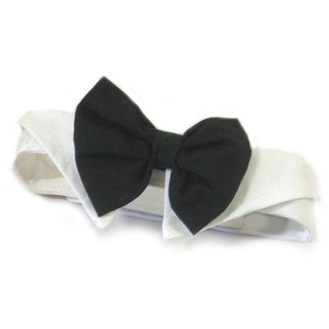 bow tie for dogs black bow tie and collar made of cotton petimpulse
