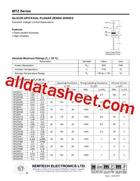semtech tvs diode application note mtz18b datasheet pdf semtech electronics ltd