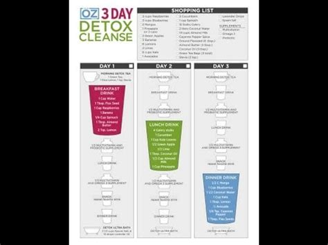 Dr Oz 3 Day Detox Diet Shopping List by Dr Oz Detox Diet Secrets For Weight Losss Funnydog Tv