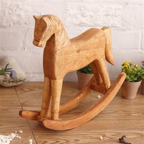 rocking horse decor promotion online shopping for promotional rocking horse decor on aliexpress wooden horse figurines promotion shop for promotional