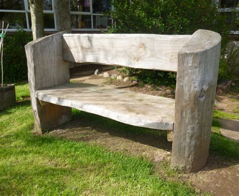 outdoor log bench rustic log bench for play parks caledonia play outdoor