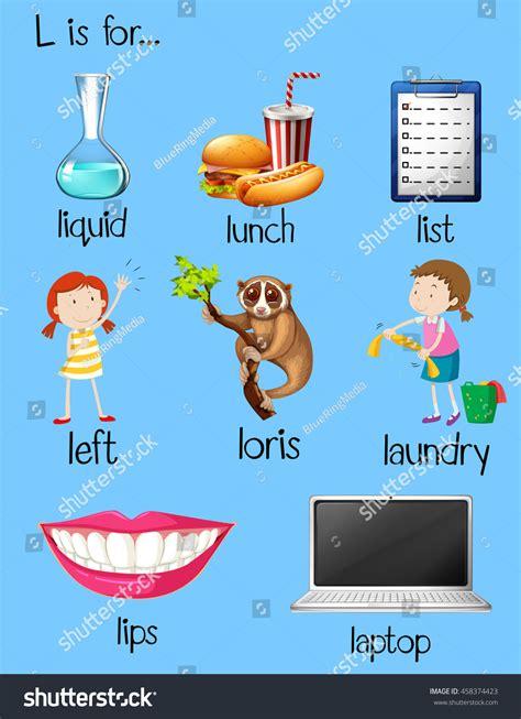 5 Letter Words Beginning With L many words begin letter l illustration stock vector