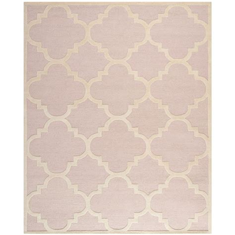 Light Pink Area Rugs Safavieh Cambridge Light Pink Ivory 8 Ft X 10 Ft Area Rug Cam140m 8 The Home Depot