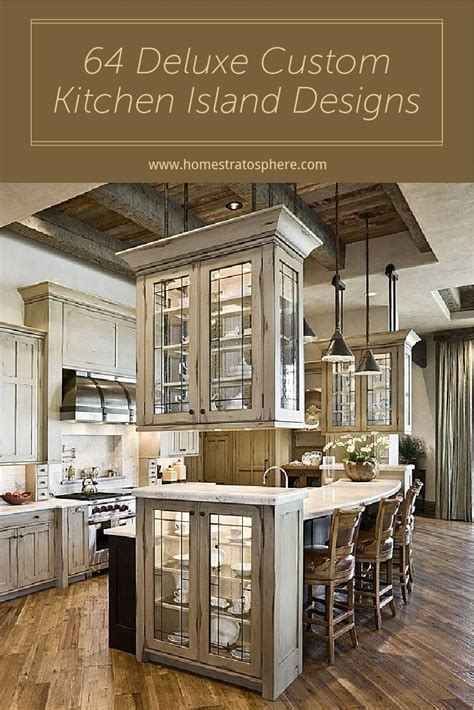 64 deluxe custom kitchen island designs beautiful 3644 best kitchen ideas images on pinterest kitchen