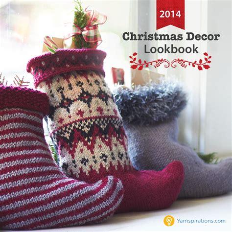 yarnspirations 2014 christmas decor lookbook by