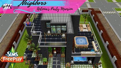 design clothes neighbor sims freeplay antonia s party mansion neighbor s original design
