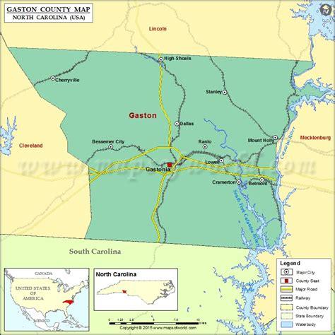 zip code map gastonia nc gaston county map north carolina