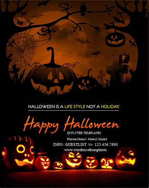 halloween templates for flyers free ms word halloween party flyer templates word excel