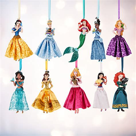 disney princess christmas ornaments set of 10