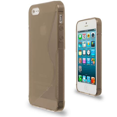 color tpu transparent s shape s line rubber skin cover for iphone 5 5g 5s ebay