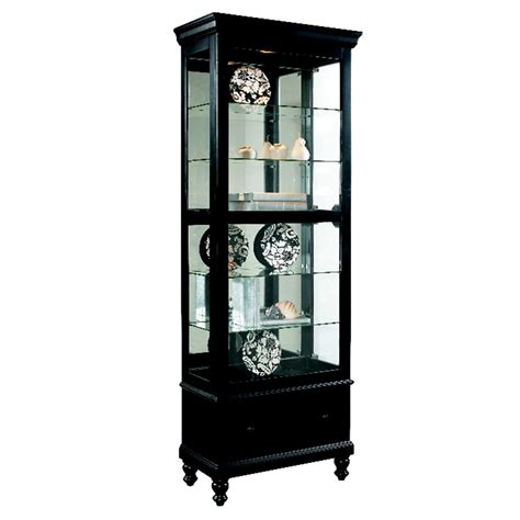 curio with drawers black curio with