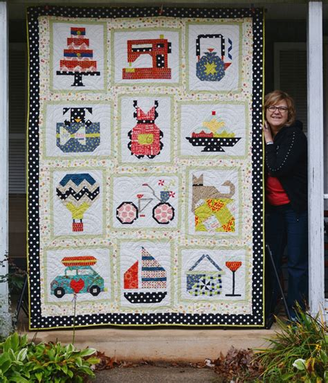 Snapshot Quilt Pattern by Make One Block Or The Entire Snapshots Quilt Quilting Digest